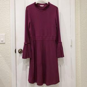 Plum NY & Company Long Sleeve Sweater Dress XL